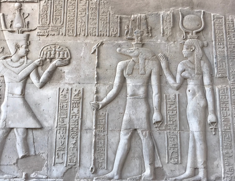 Relief of the god Sobek